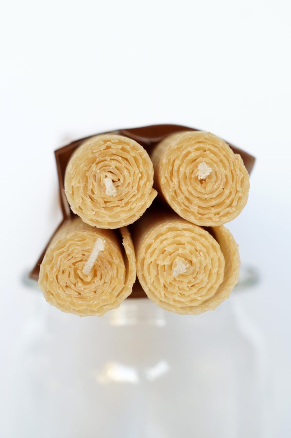Produkt: Świeca z węzy pszczelej (23 cm wysokości) - sklep pasiekasmakulskich.pl