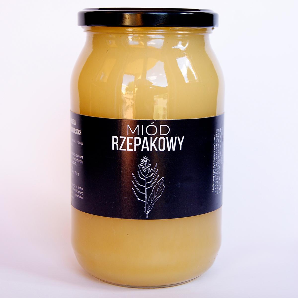 Produkt: miód rzepakowy duży - sklep pasiekasmakulskich.pl