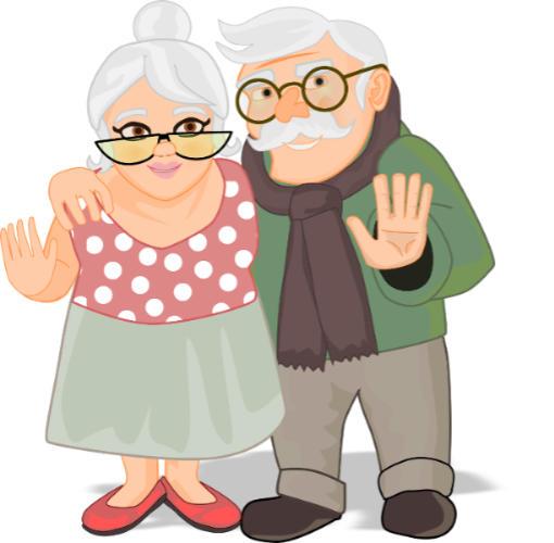 Kreskówkowa babcia i dziadek - dzień babci i dziadka 2021 - zestaw miodów dla dziadków